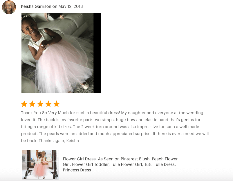 Amazing flower girl dress reviews