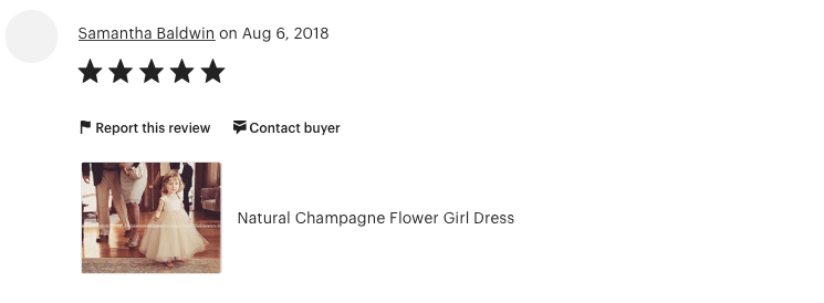 5 Star Review for Olivia Kate Couture flower girl dresses!