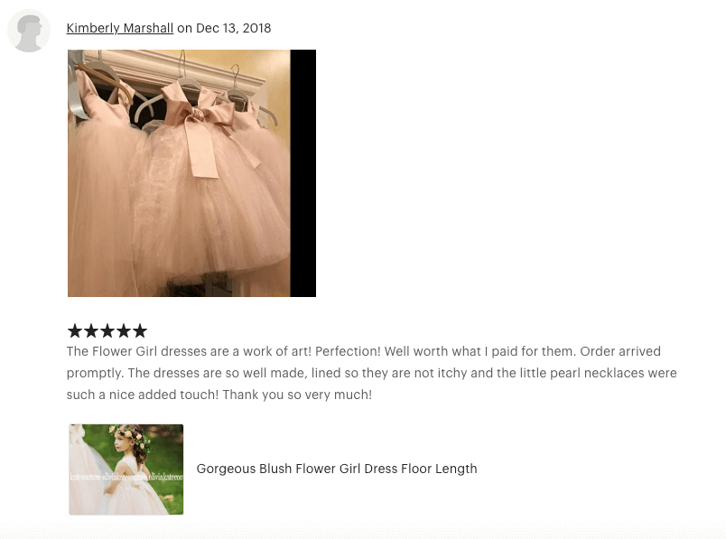 The Flower Girl dresses are a work of art! Perfection!