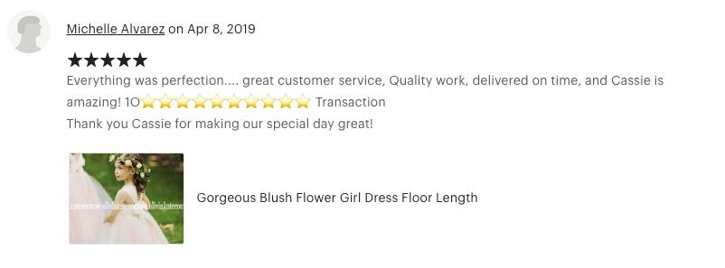GORGEOUS BLUSH FLOWER GIRL DRESS FOR WEDDINGS