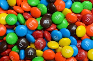 M&Ms colorful candy
