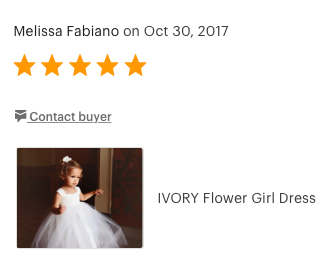 Gorgeous Flower Girl Dress by Olivia Kate Couture, 5 Star Feedback